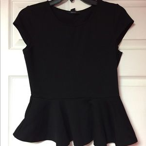 Black Peplum Shirt